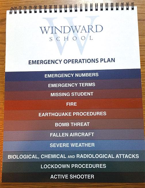 windward school standard flip chart