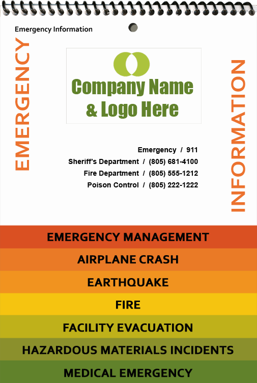 EHS Consult emergency information flip chart