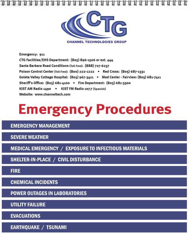 Emergency Procedures Flip Charts your content we do the rest – Sample Safety Manual Template